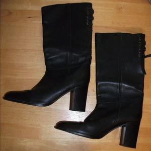 COACH Black Leather Boots 10B